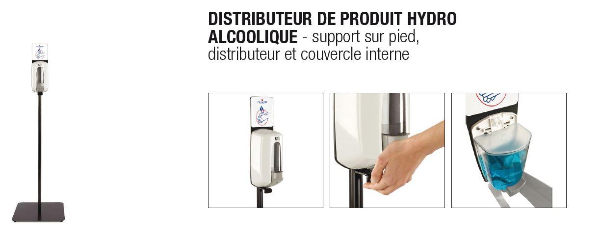Distributeur gel HYDRO ALCOOLIQUE